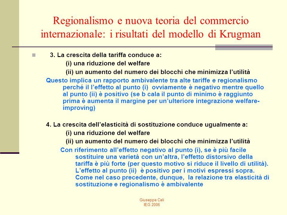 Regionalismo e nuova teoria del commercio internazionale: i risultati del modello di Krugman