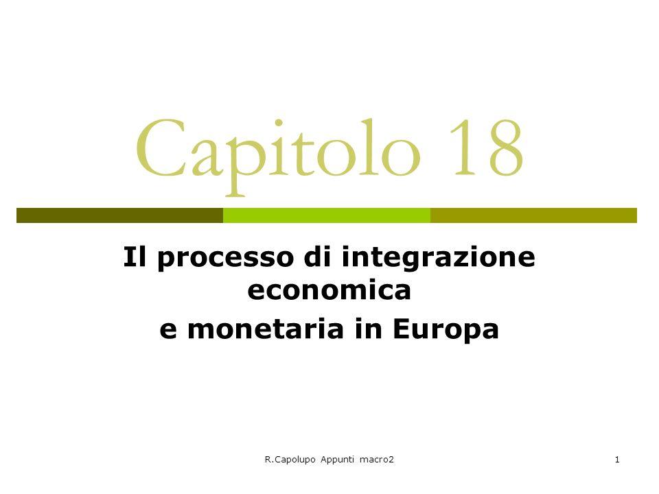 Il processo di integrazione economica e monetaria in Europa