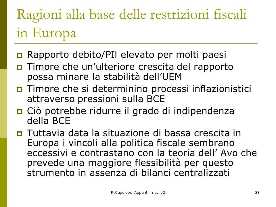 Ragioni alla base delle restrizioni fiscali in Europa