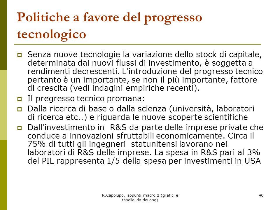 Politiche a favore del progresso tecnologico