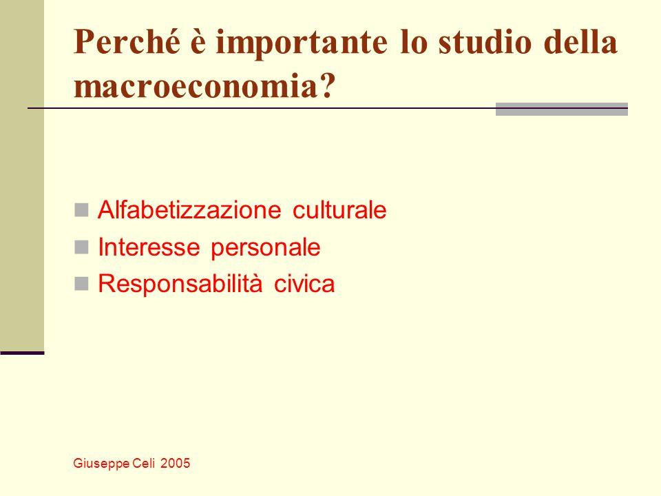 Perché è importante lo studio della macroeconomia