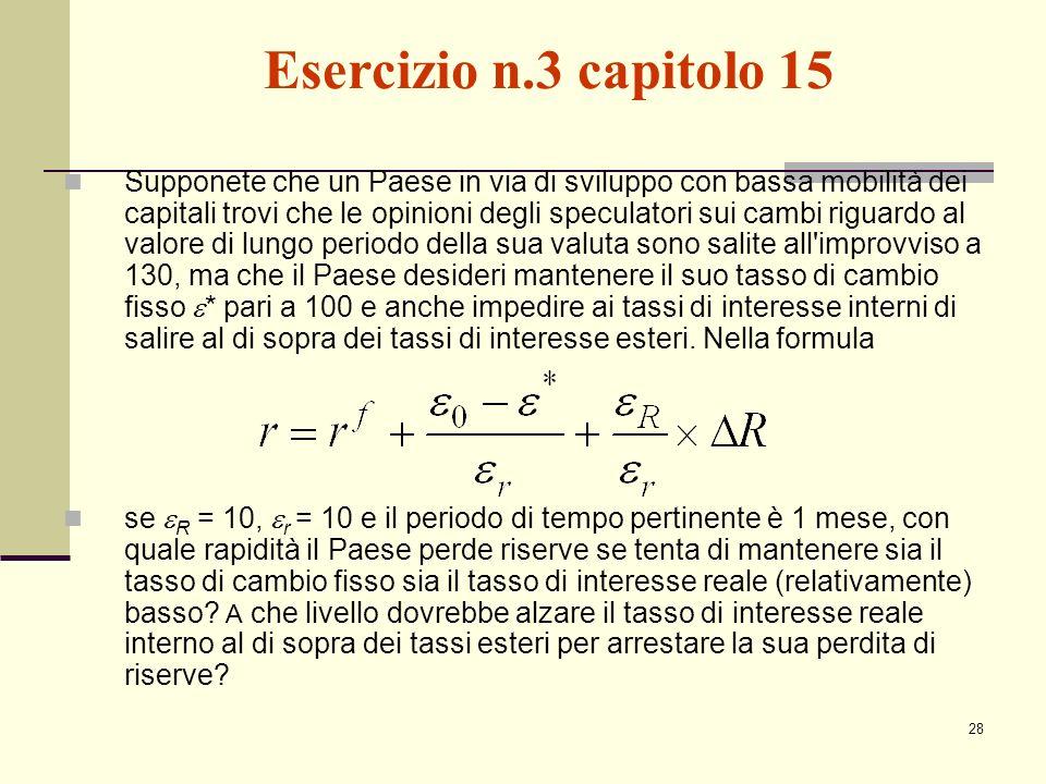 Esercizio n.3 capitolo 15