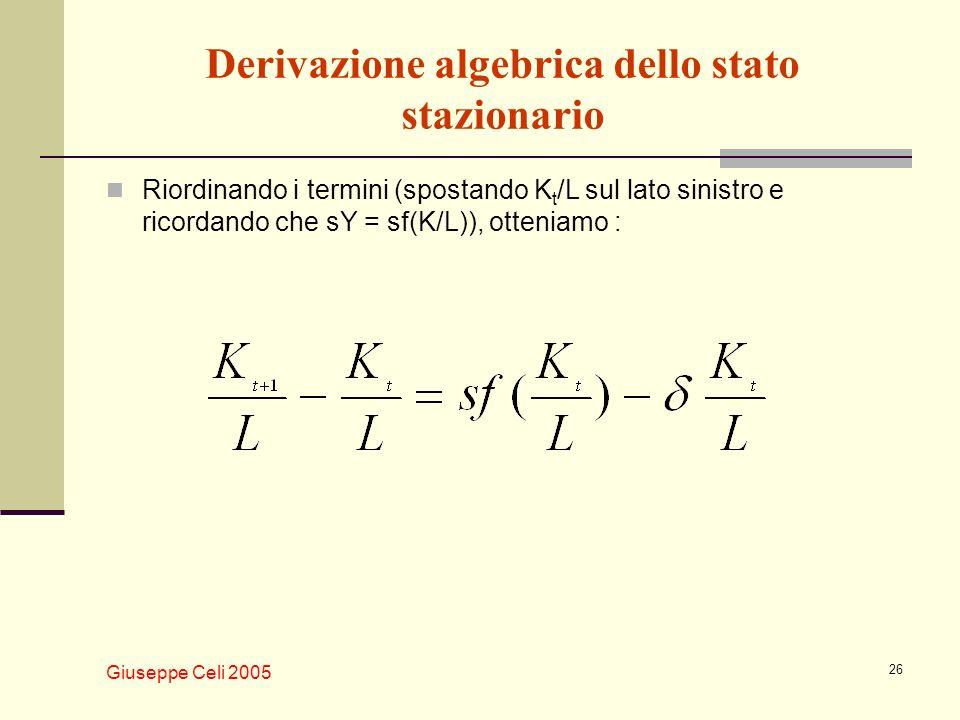 Derivazione algebrica dello stato stazionario
