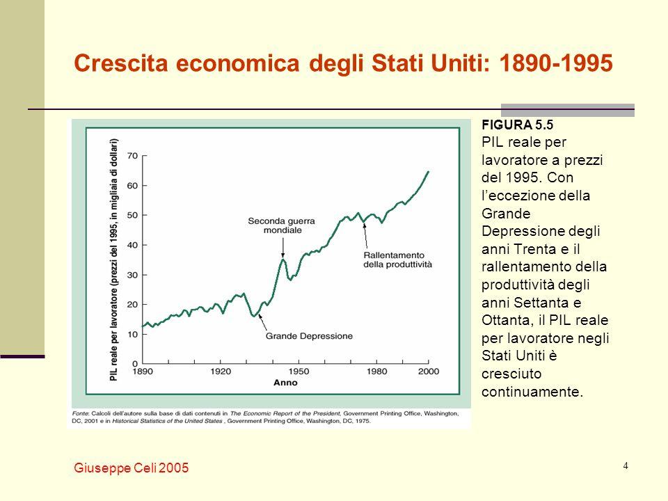 Crescita economica degli Stati Uniti: 1890-1995