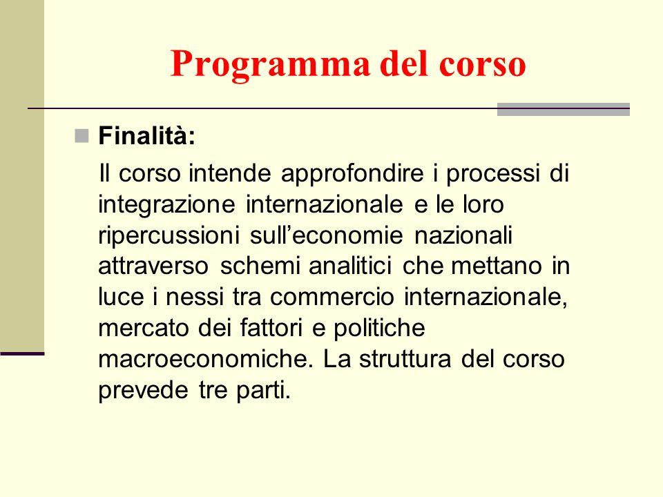 Programma del corso Finalità: