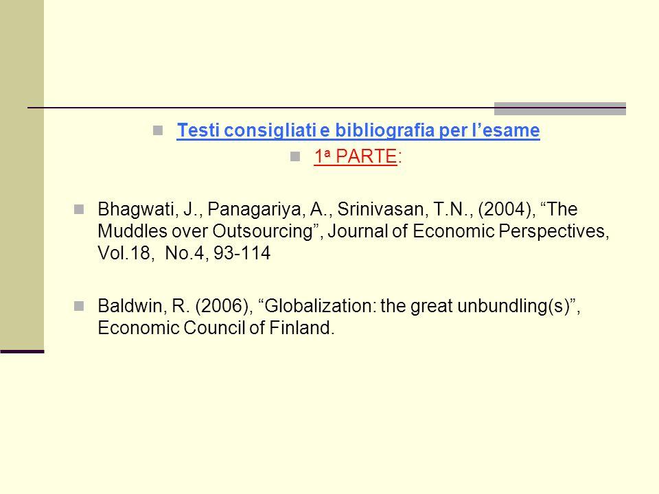 Testi consigliati e bibliografia per l'esame