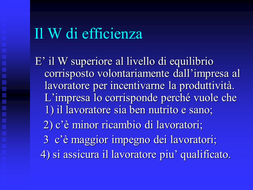 Il W di efficienza