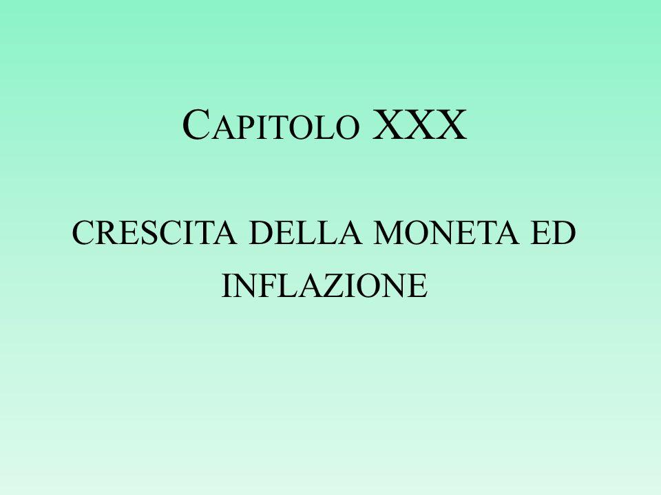 crescita della moneta ed inflazione