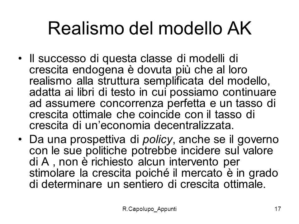 Realismo del modello AK