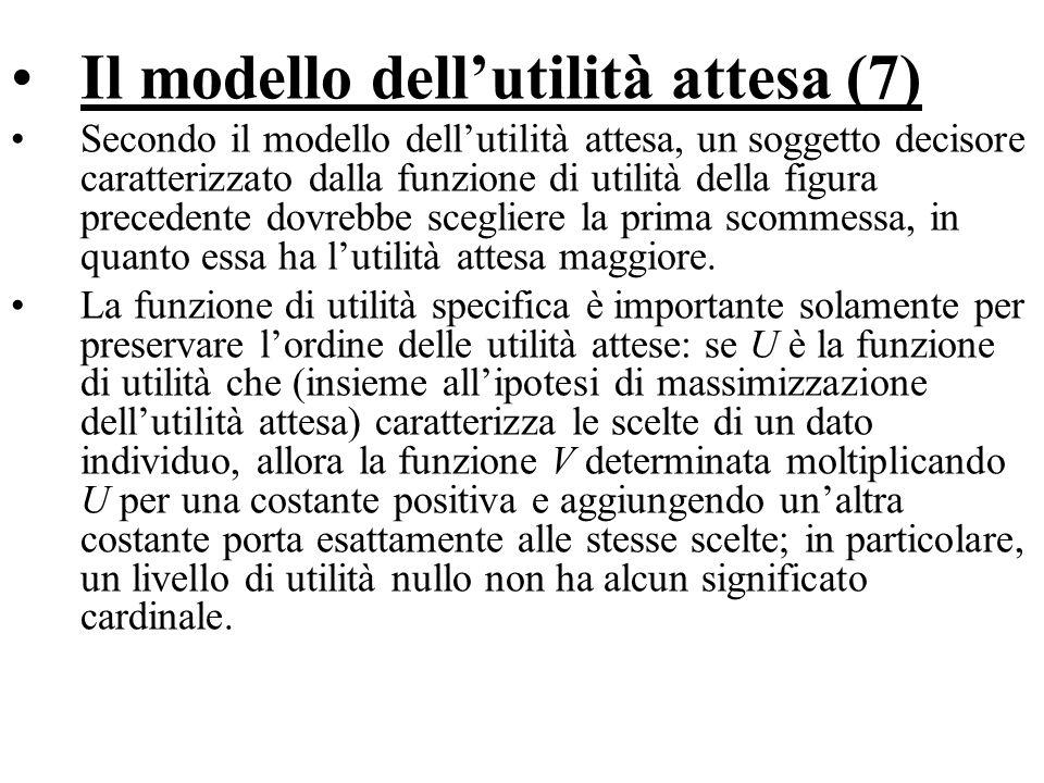 Il modello dell'utilità attesa (7)