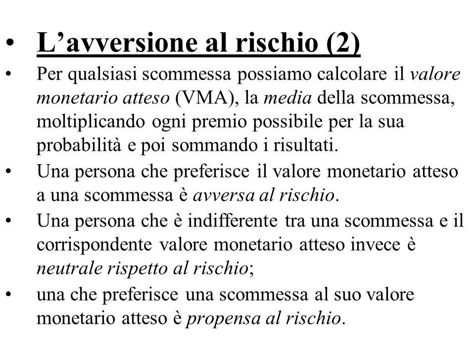 L'avversione al rischio (2)