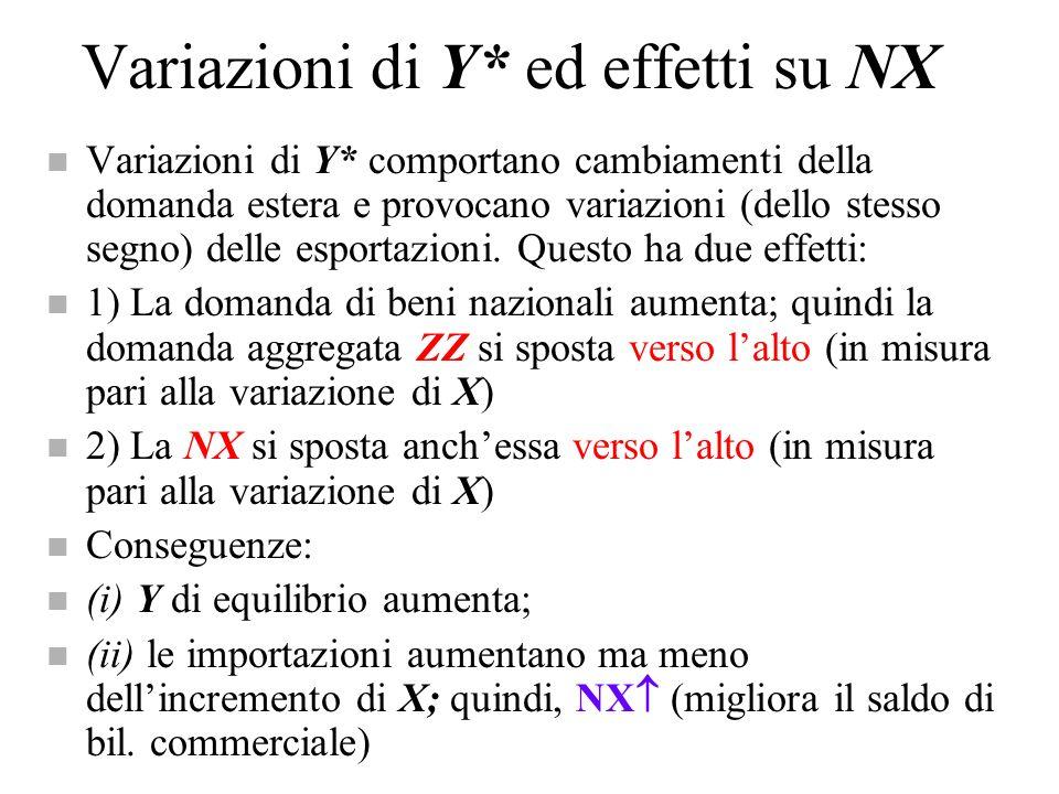 Variazioni di Y* ed effetti su NX