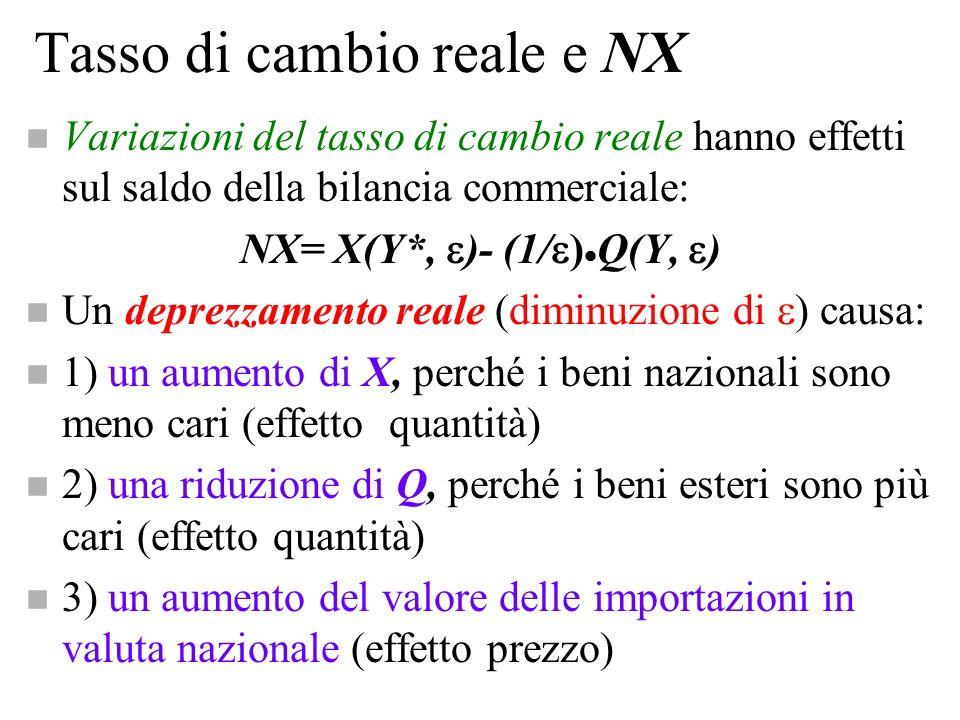 Tasso di cambio reale e NX