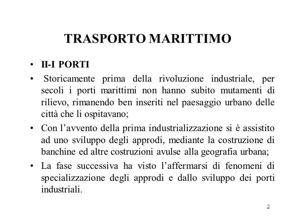 TRASPORTO MARITTIMO II-I PORTI