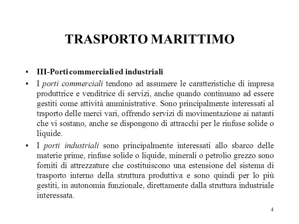 TRASPORTO MARITTIMO III-Porti commerciali ed industriali