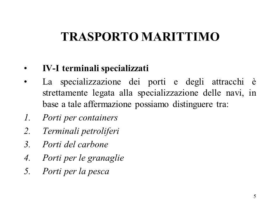 TRASPORTO MARITTIMO IV-I terminali specializzati