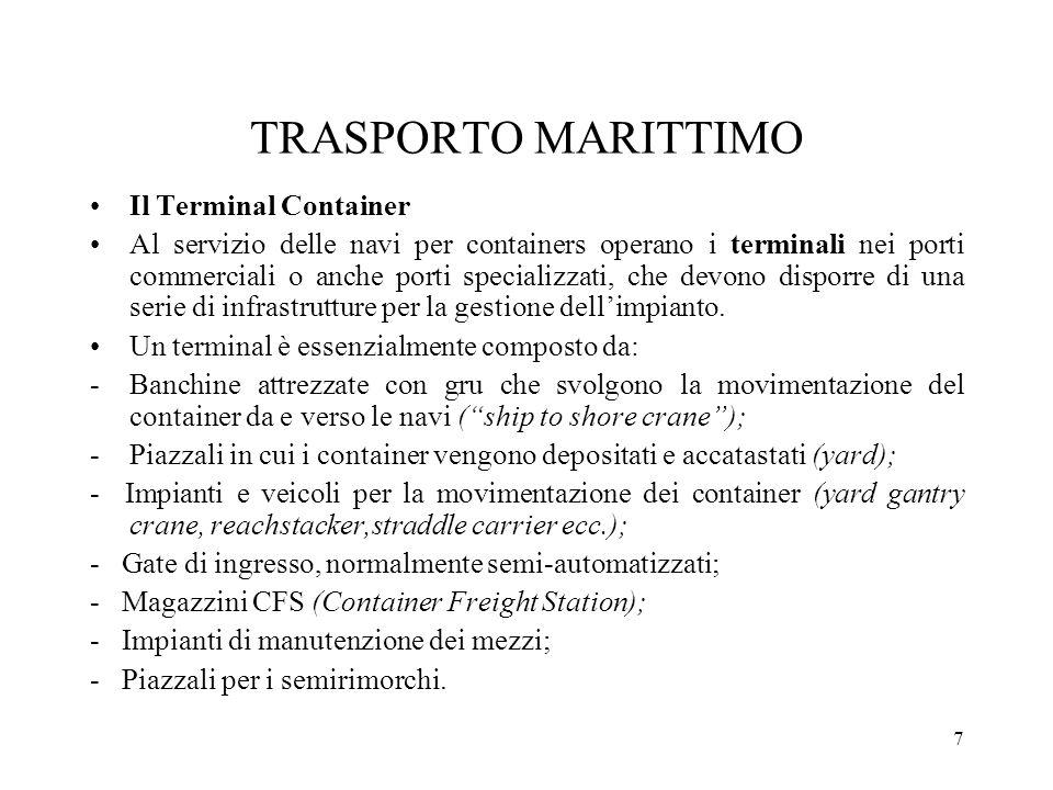 TRASPORTO MARITTIMO Il Terminal Container