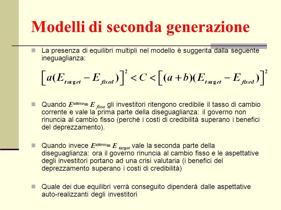 Modelli di seconda generazione
