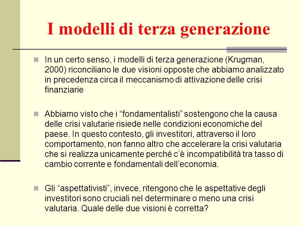 I modelli di terza generazione