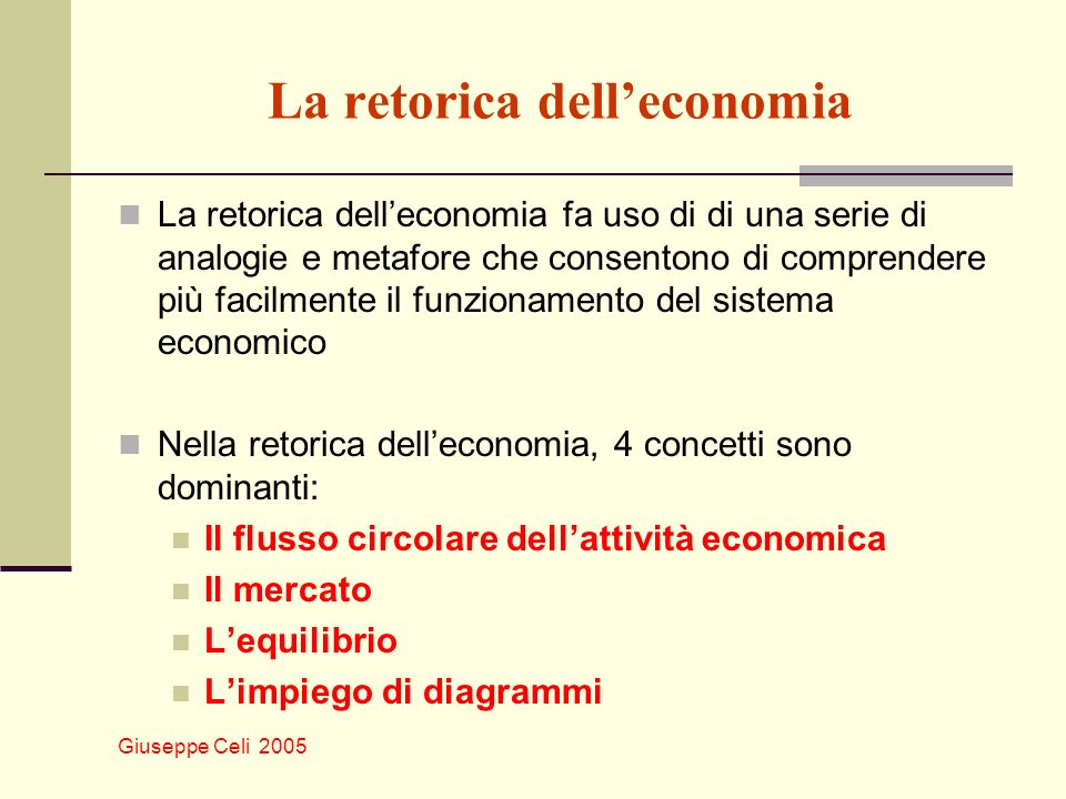 La retorica dell'economia