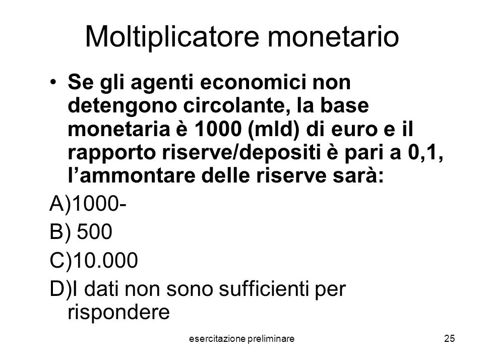 Moltiplicatore monetario