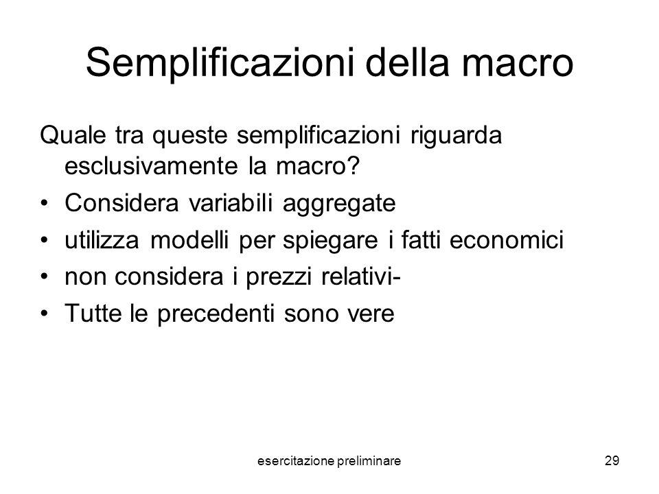 Semplificazioni della macro