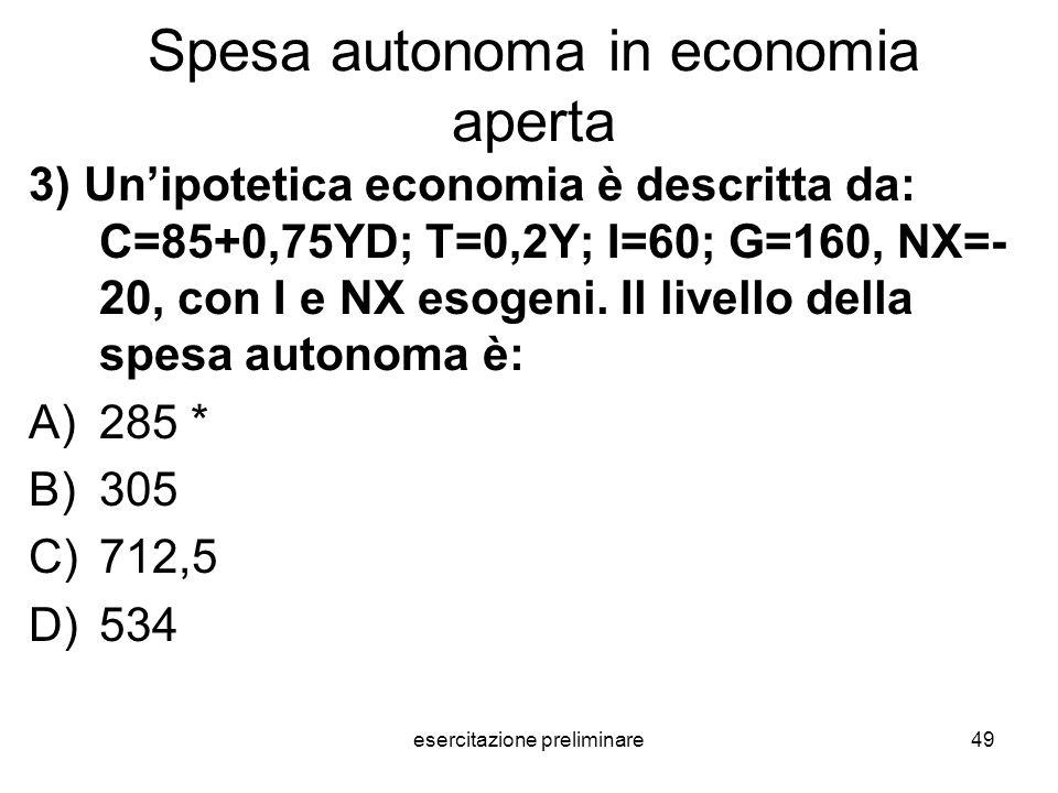 Spesa autonoma in economia aperta