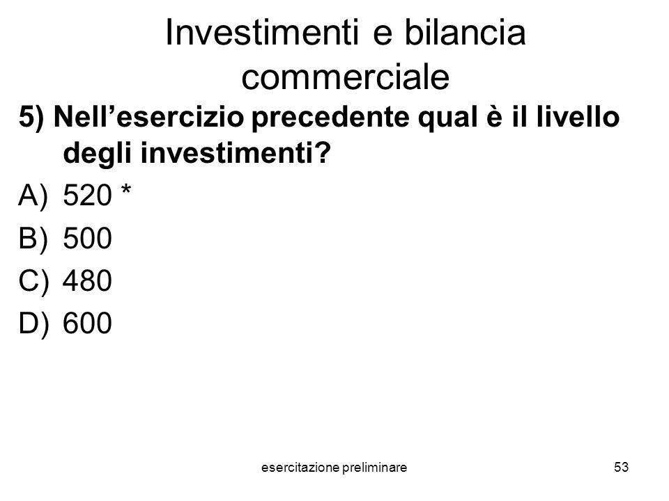 Investimenti e bilancia commerciale