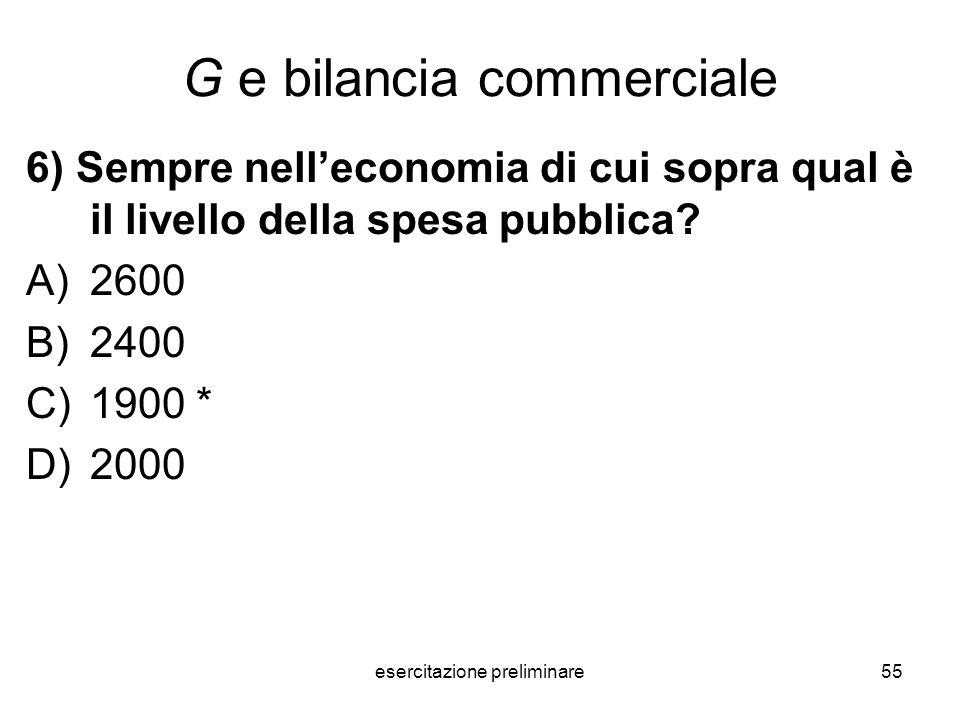 G e bilancia commerciale