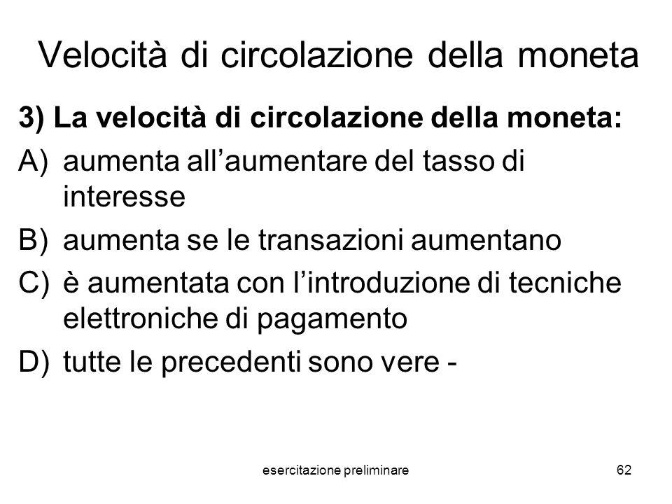 Velocità di circolazione della moneta