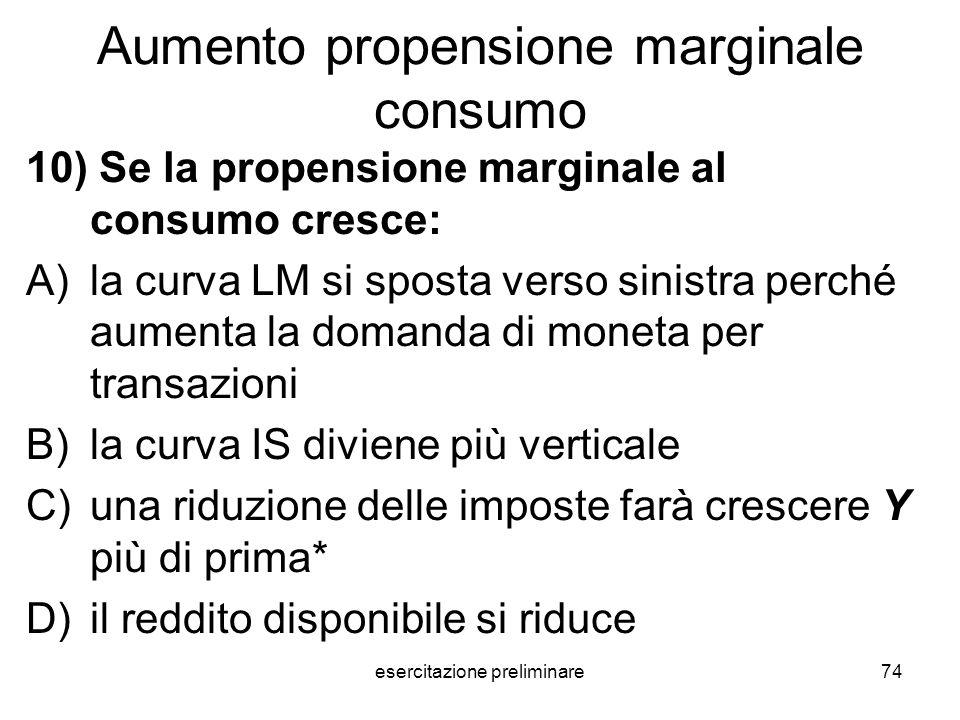 Aumento propensione marginale consumo