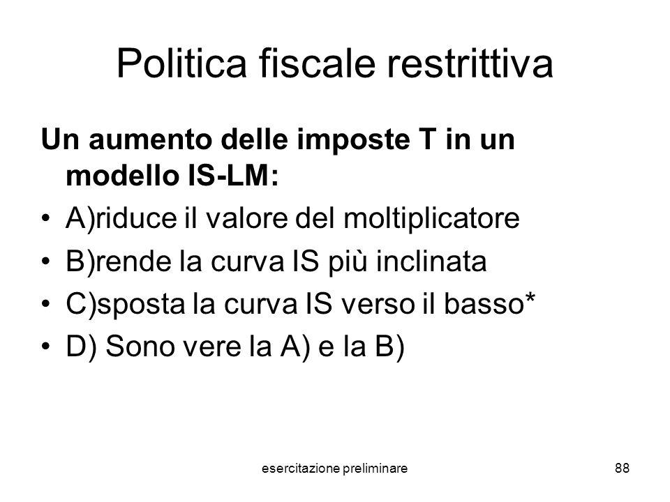 Politica fiscale restrittiva