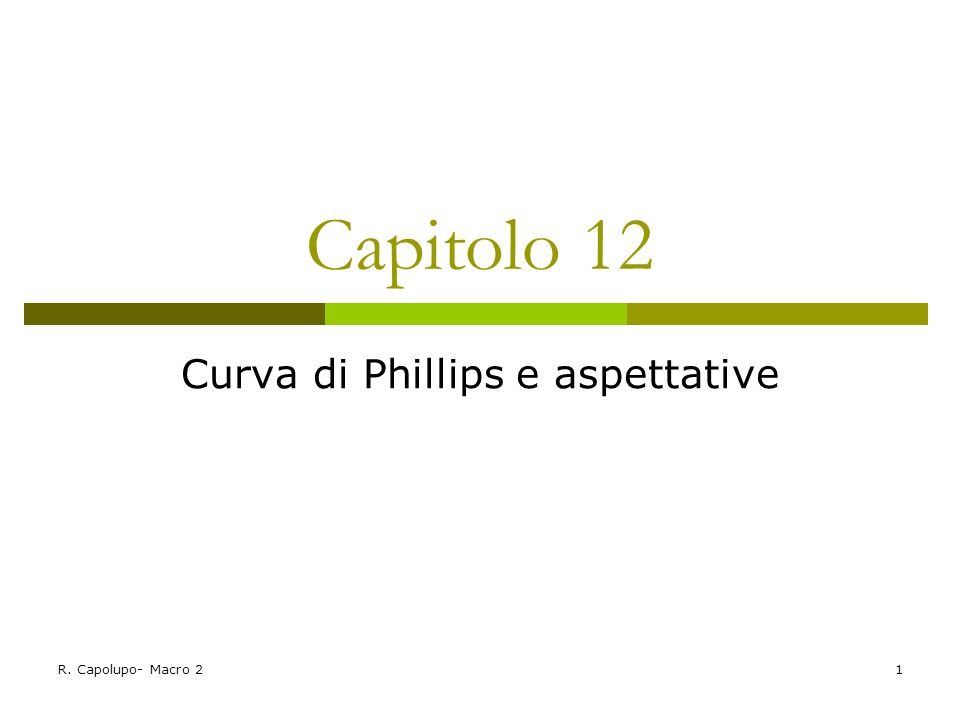Curva di Phillips e aspettative