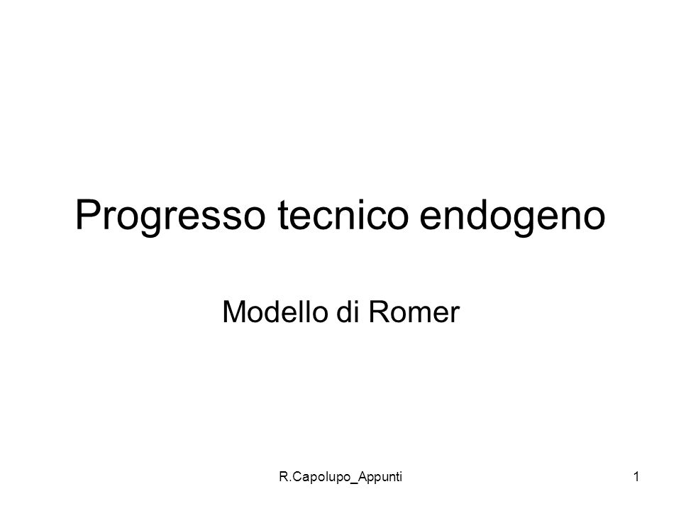 Progresso tecnico endogeno