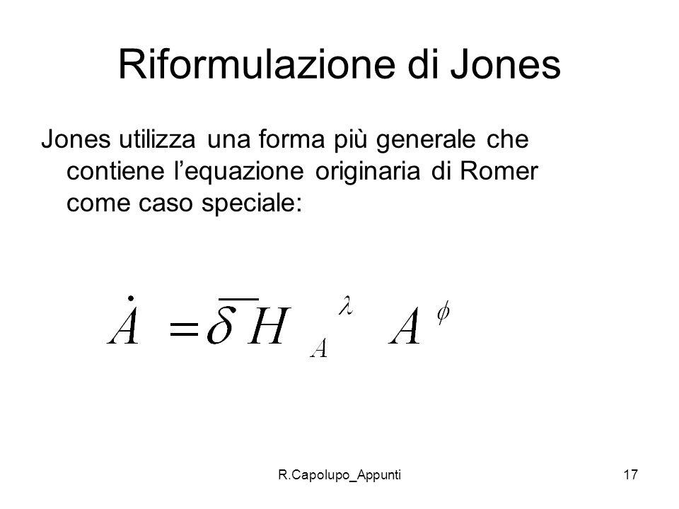 Riformulazione di Jones