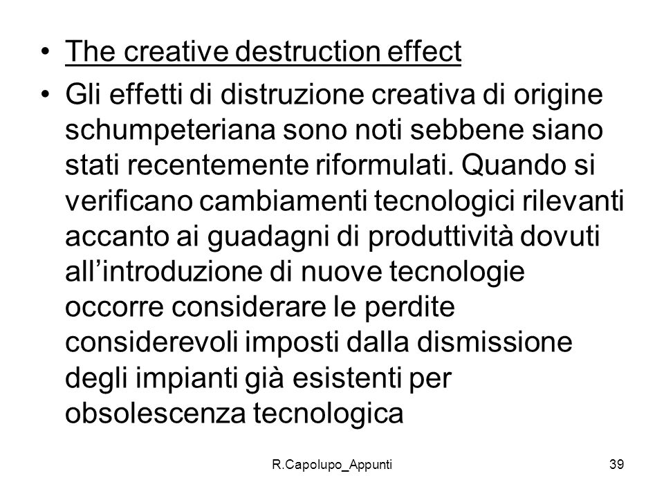 The creative destruction effect