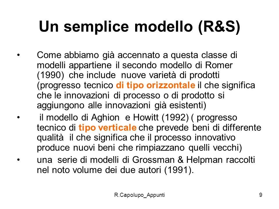 Un semplice modello (R&S)