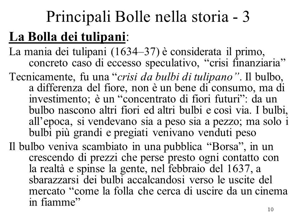 Principali Bolle nella storia - 3