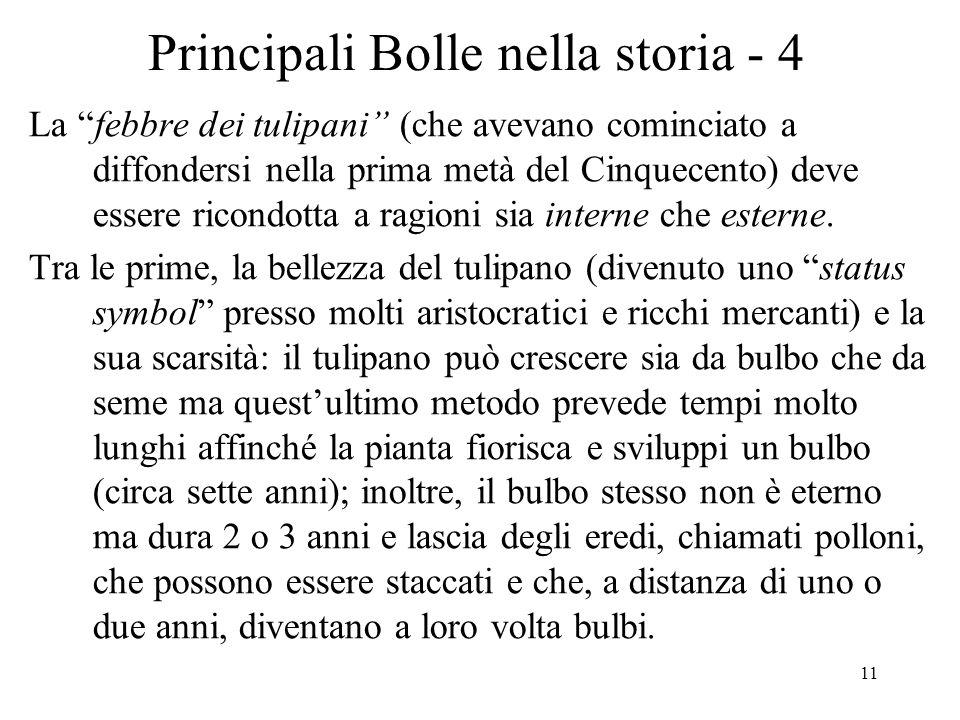 Principali Bolle nella storia - 4