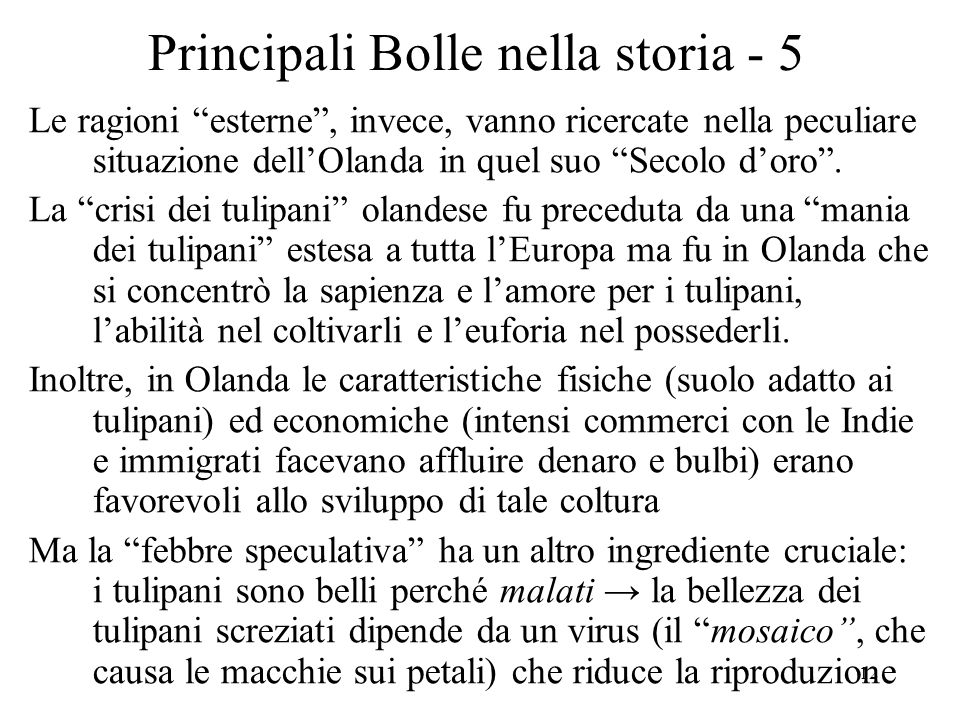 Principali Bolle nella storia - 5