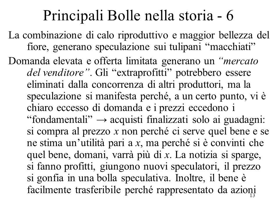 Principali Bolle nella storia - 6