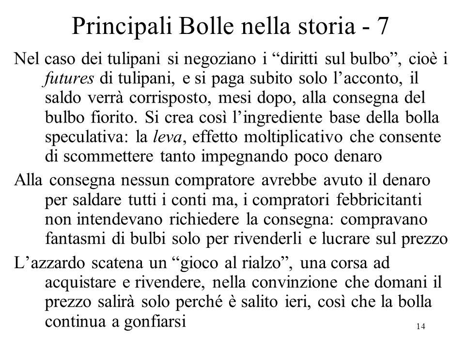 Principali Bolle nella storia - 7