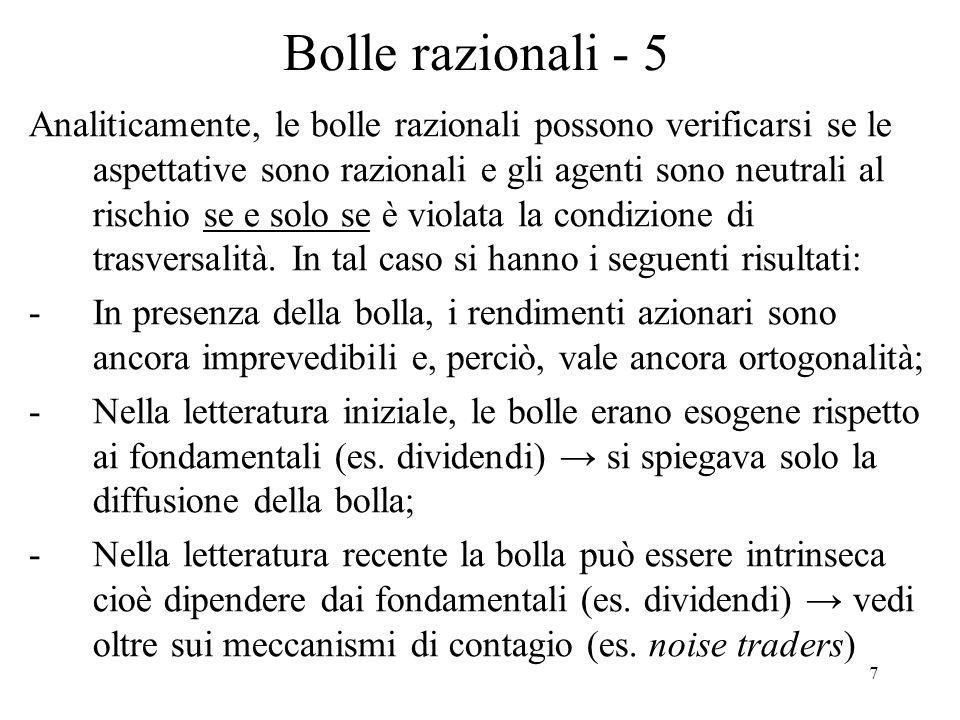 Bolle razionali - 5