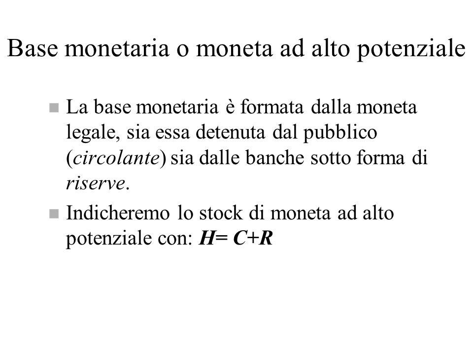 Base monetaria o moneta ad alto potenziale