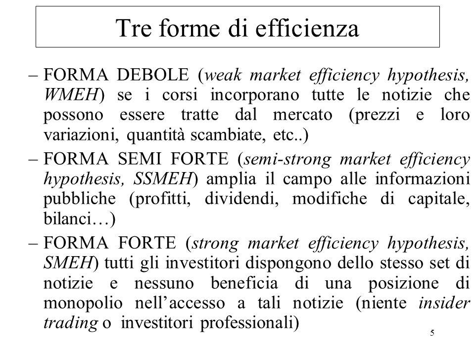 Tre forme di efficienza