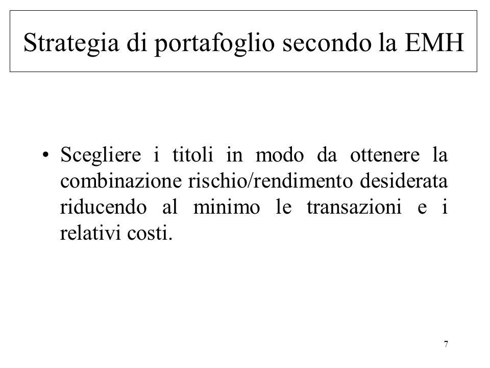Strategia di portafoglio secondo la EMH
