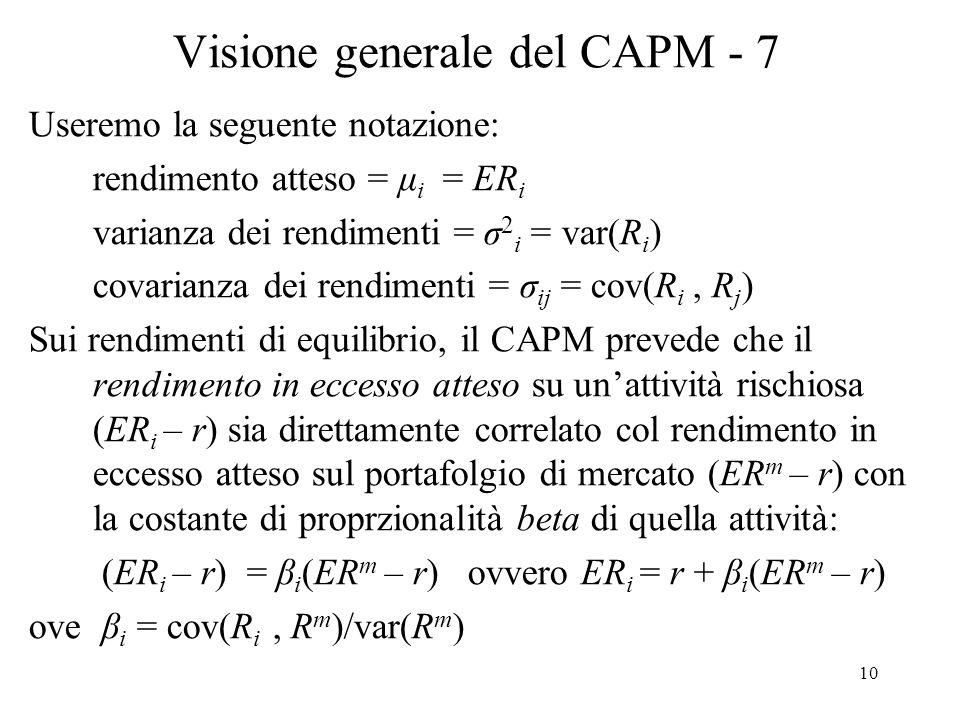 Visione generale del CAPM - 7