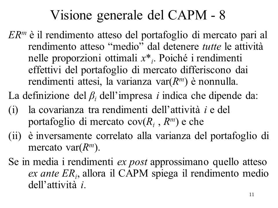 Visione generale del CAPM - 8