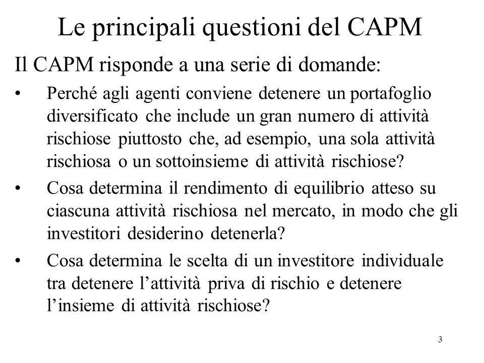 Le principali questioni del CAPM