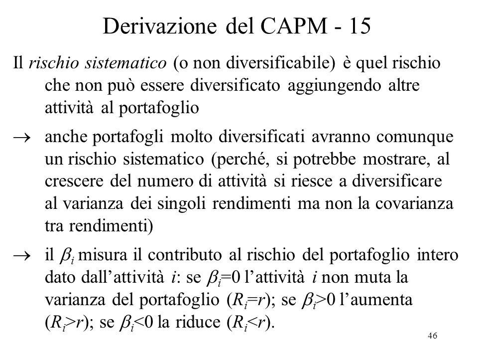Derivazione del CAPM - 15